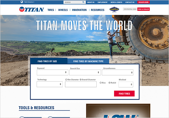 When designing this website, I kept the Titan style guide close at hand to insure I maintain their brand. https://www.titan-intl.com